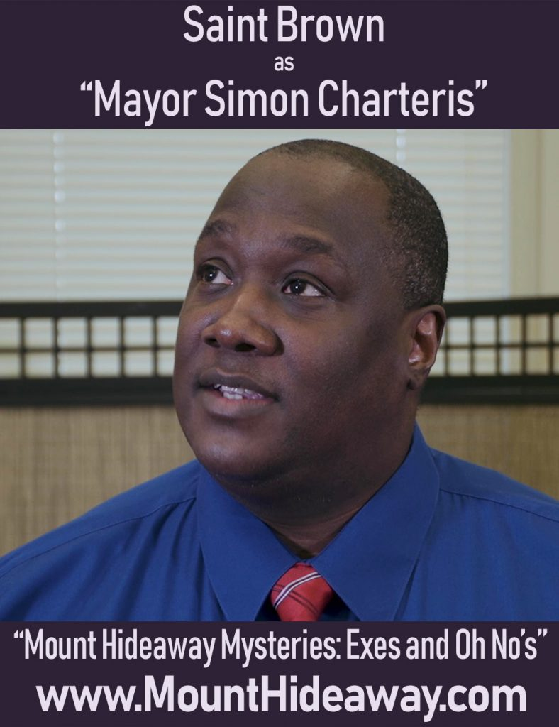 Saint Brown as Mayor Simon Charteris